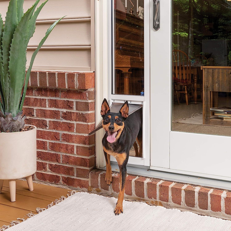 PetSafe - Puerta corredera de Cristal para Mascotas, tamaño Mediano