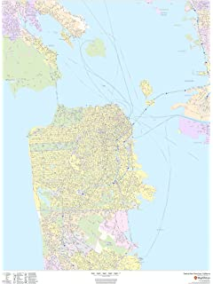 Jacksonville Florida Zip Code Map.Amazon Com Jacksonville Florida Zip Codes 48 X 36 Matte