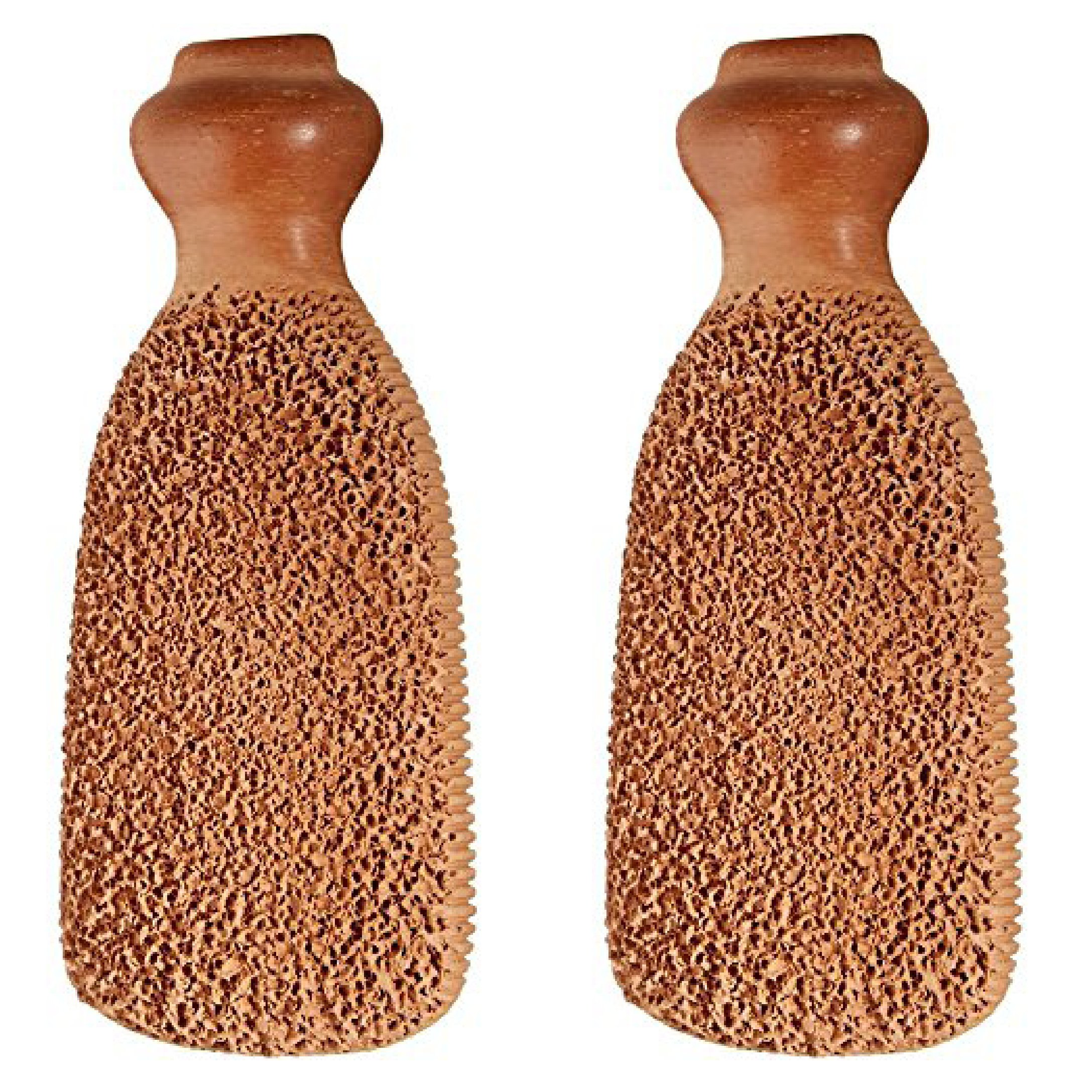 Gilden Tree 2-Sided Terra-Cotta Foot Scrubber (Set of 2)