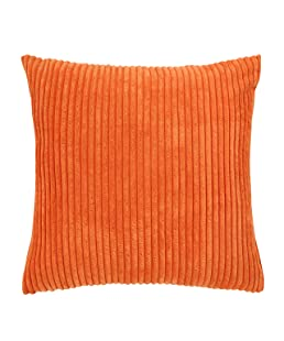 """famibay Decorative Soft Throw Pillow Cushion Covers for Sofa/Couch/Bed,Plain Square Pillow Case Cushion Cover 22 x 22 (22"""" x 22"""", Orange)"""