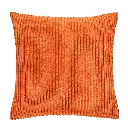 Merveilleux Famibay Throw Pillow Cover 24x24,Striped Corduroy Cushion Cover Sofa Pillow  Case Covers Zipper Decorative