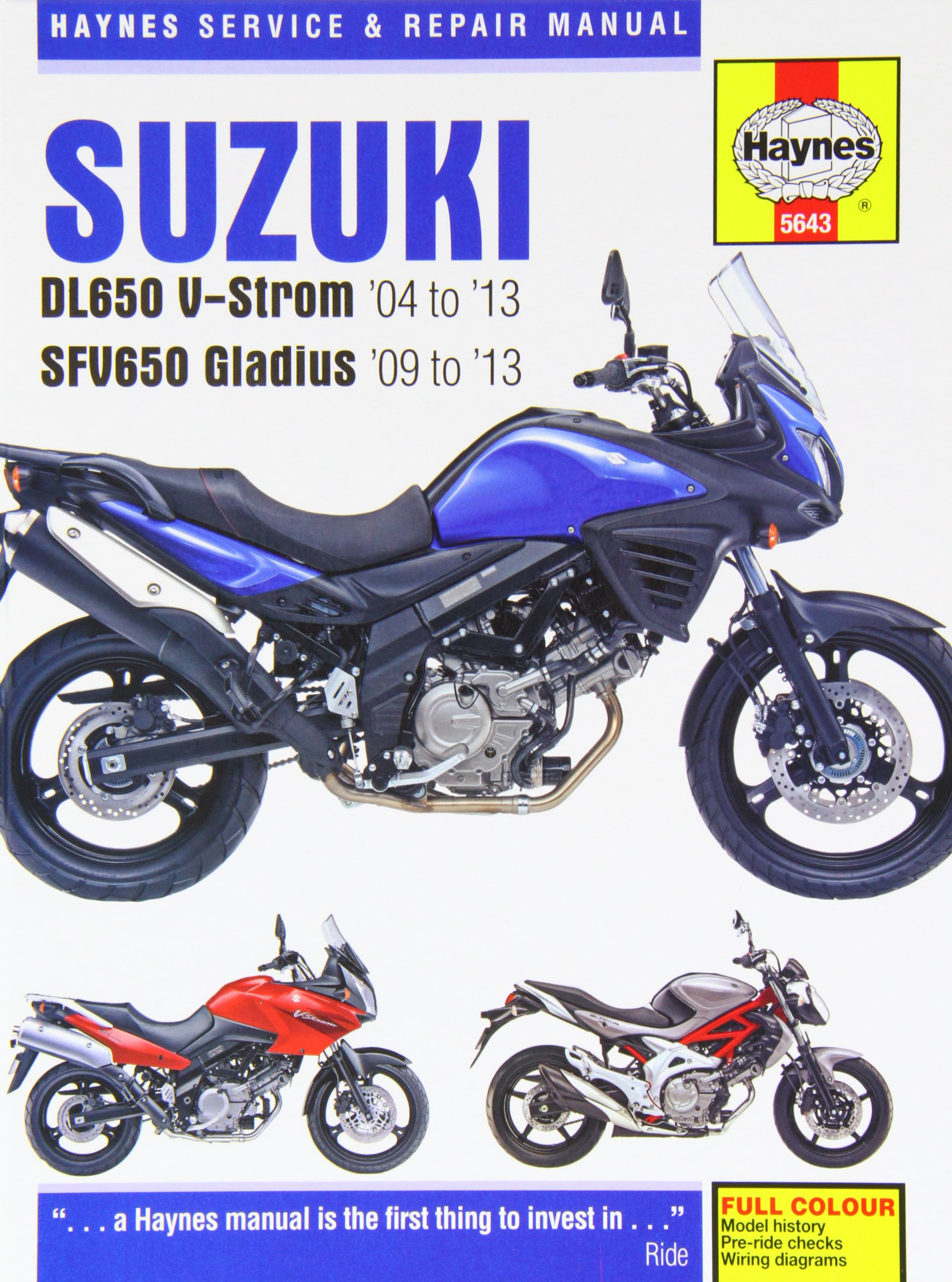 Suzuki V Strom 650 Wiring Diagram Archive Of Automotive 2014 Equinox Wire Light Dl650 Sfv650 Gladius 04 13 John Haynes Rh Amazon Com