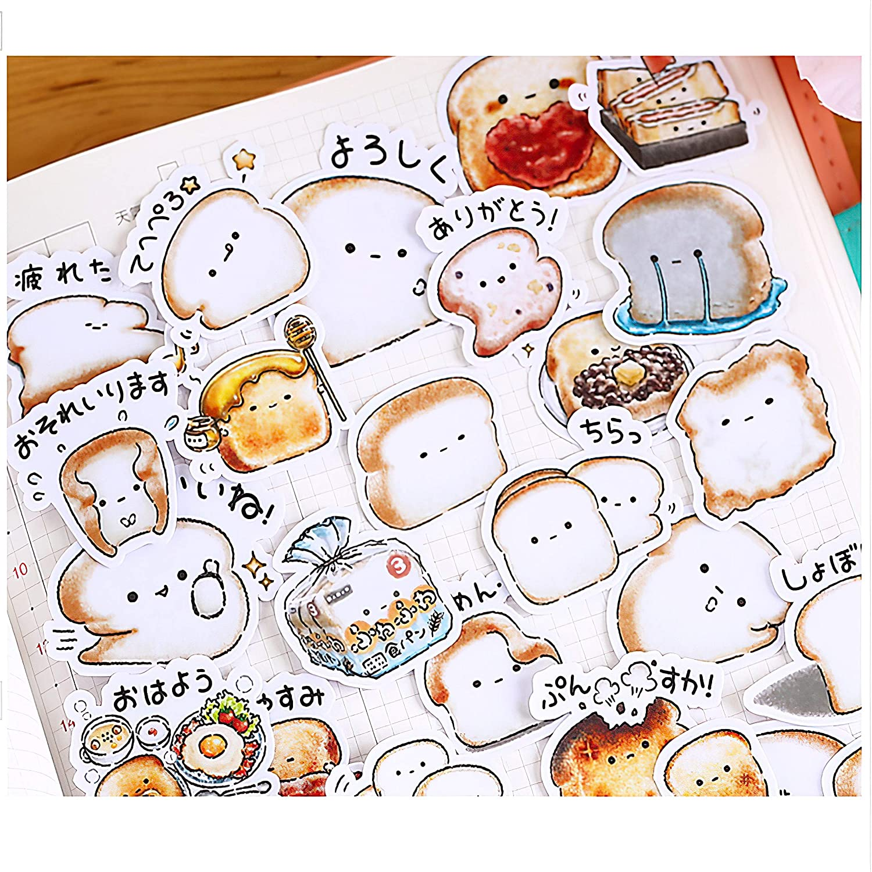 40pcs Creative Cute Self-Made Bread Story//Food Scrapbooking Stickers//Decorative Sticker//DIY Craft Photo Albums Kawaii