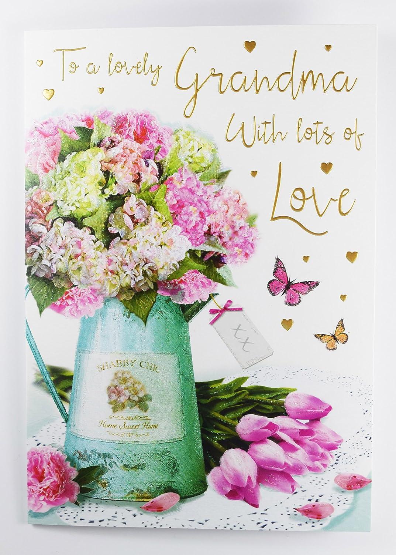 A un adorable abuela Tarjeta de cumpleaños tradicionales ...