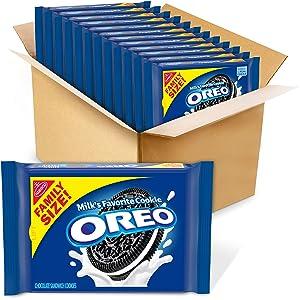 OREO Chocolate Sandwich Cookies, Family Size, 12 - 19.1 oz Packs