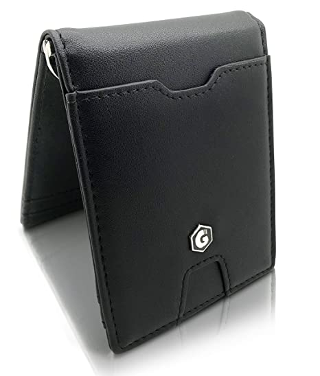 8da7931029 Porta carte di credito con porta monete Portafoglio Uomo con fermasoldi e  blocco RFID - Portafoglio