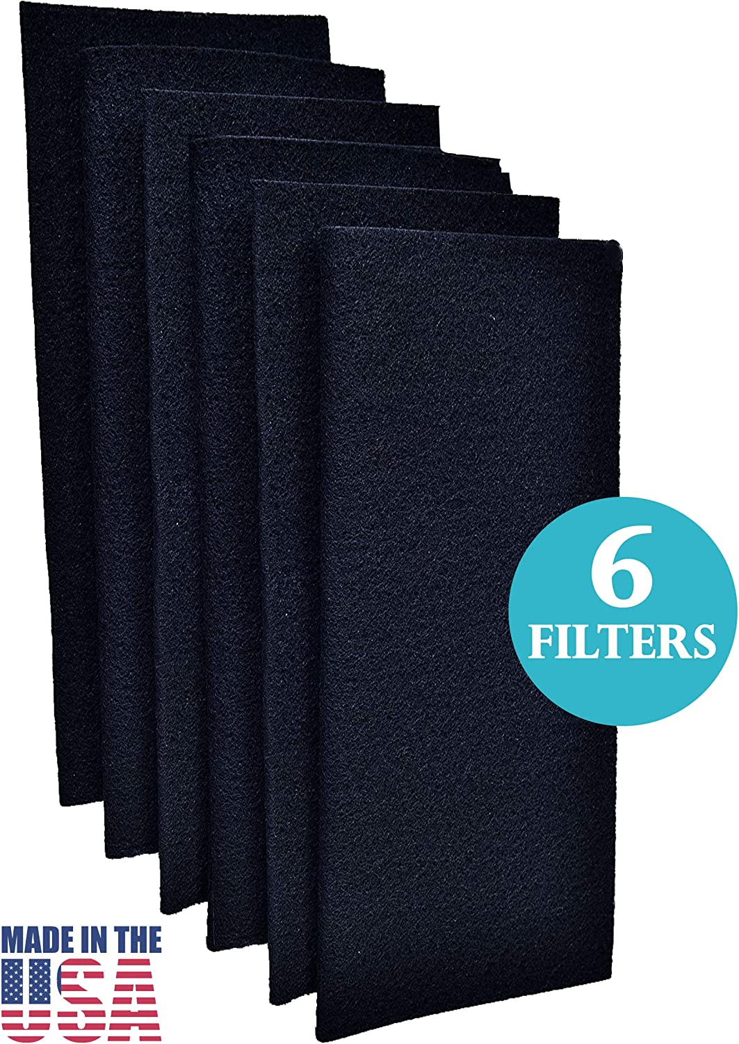 Fresh HQ Activated Carbon Replacement Pre Filter Compatible with Hamilton Beach Air Purifier 04383, 04384 and 04386, 6 Pack Pre Filters