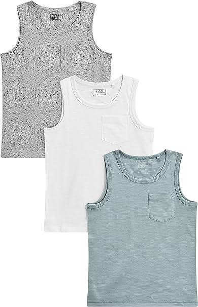 next Niños Pack De Tres Camisetas Sin Mangas (3-16 Años) Multicolor 16 Años: Amazon.es: Ropa y accesorios