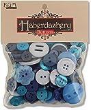 Buttons Galore Haberdashery Button, Blues