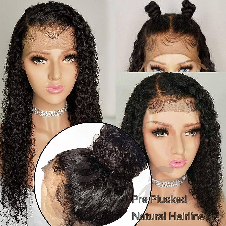 Amazon.com   Fushen Hair 360 Lace Frontal Wigs 180% Denisty Lace Front  Human Hair Wigs for Black Women Curly Brazilian Virgin Hair Pre Plucked 360  Lace Wigs ... 556aaaaac1
