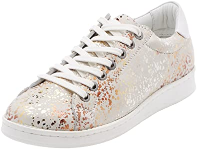 Maruti Nena Leather, Baskets Femme, Blanc (Metallic Galaxy White ZJ8), 37 EU