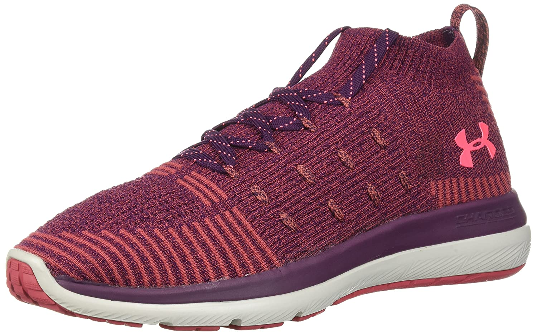 Under Armour Women's Slingflex Rise Sneaker B072J3D61D 10 M US|Merlot (500)/Rustic Red