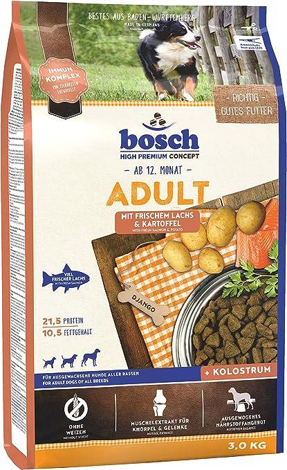 bosch HPC Adult   con Salmón fresco y Patata   Comida seca para perros adultos de todas las razas   3 kg