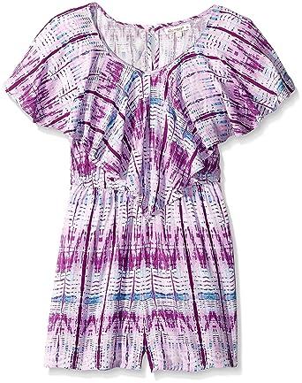 d521846fd6d2 Amazon.com  Ella Moss Girls Slim Size Kayla Short Sleeve Romper ...