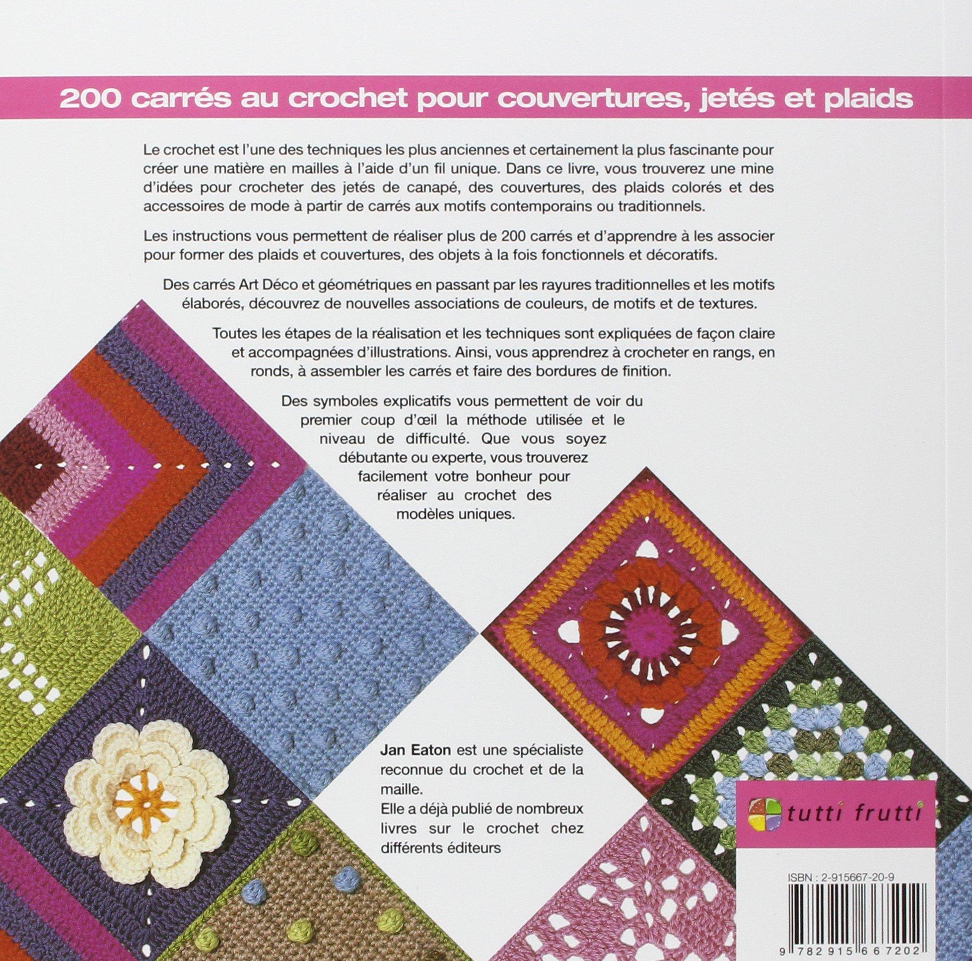 Bevorzugt Amazon.fr - 200 carrés au crochet : Pour couvertures, jetés et  YD11