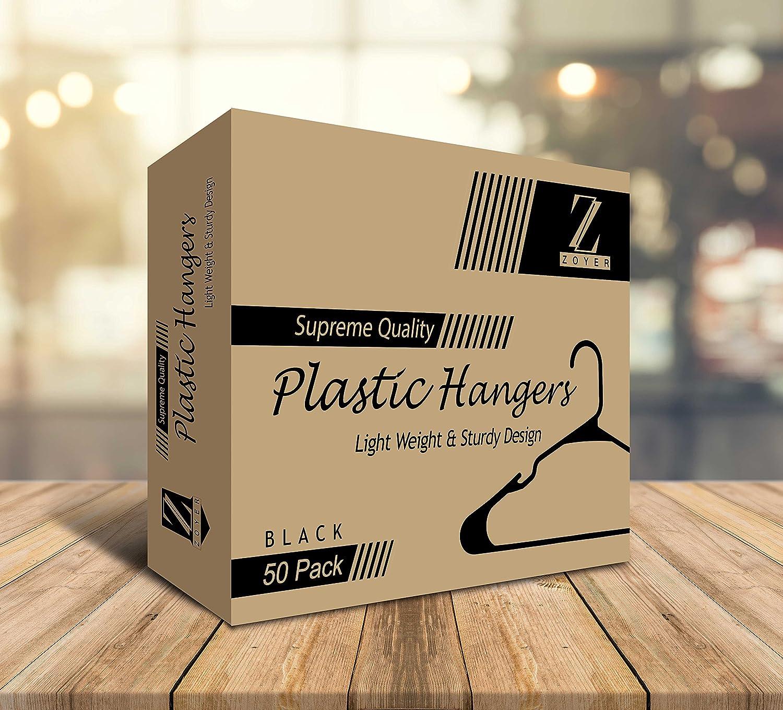 Amazon.com: zoyer estándar Perchas de plástico – Duradero y ...