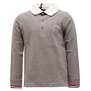 2efd87bbac786 Moncler Boys  Polo Shirt Grey Grey - Grey - 164 cm  Amazon.co.uk ...