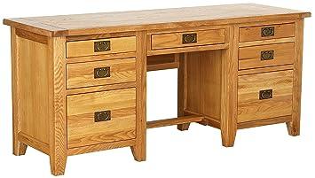 Houx home twin borne pour bureau bois chêne 60 x 18 x 80 cm