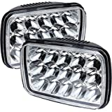 TURBOSII DOT Approved 5x7 7x6 LED Headlight Hi/Lo Sealed Beam Replace H6054 Hid headlamp Jeep Wrangler JK Cherokee XJ YJ JKU 4x4 Toyota Tacoma pickup Dodge Ram Ford F250 E350 Chevy Corvette van 2PCS