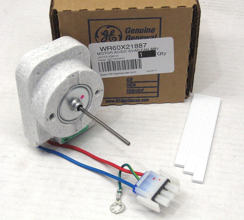 WR60X21887 GE Appliance Motor Ac/Dc Evap Fan Srv