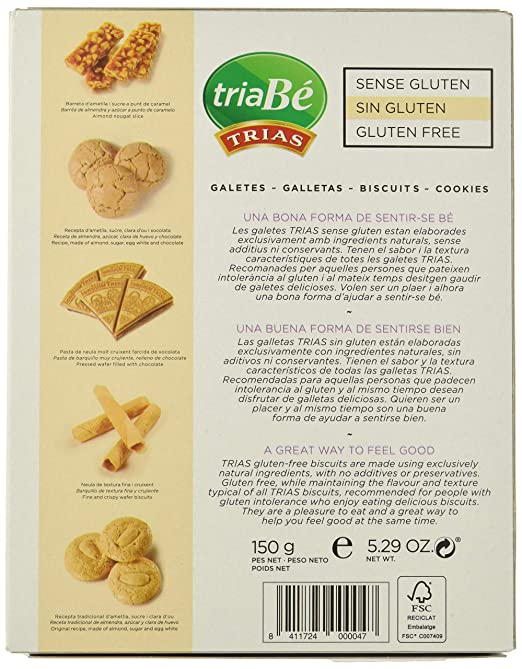 Trias Surtido (Sin Gluten) - 6 de 150 gr. (Total: 900 gr ...