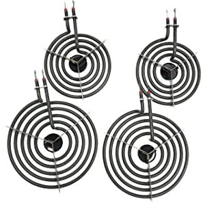 "4 Pack MP22YA Electric Range Burner Element Unit Set 2- MP15YA 6.25"" 2- MP21YA 8.25"""