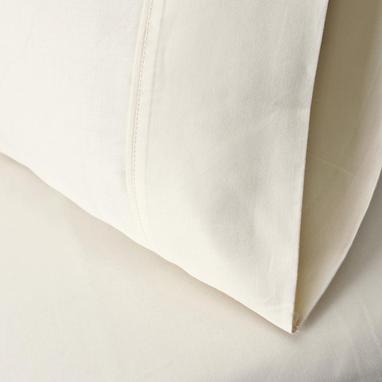 Solid 100/% Premium Long-Staple Combed Cotton 300 Thread Count Twin XL 3-Piece Sheet Set Deep Pocket Black Single Ply