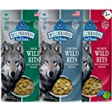 Blue Buffalo Wilderness Trail Treats Grain-Free Wild Bits Dog Treats - 3 Flavors (Salmon, Chicken, & Duck) - 4 Ounces Each (3 Total Pouches)