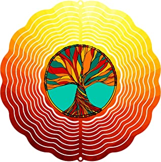 "product image for Next Innovations 101408001-TREEOFLIFE Wind Spinner, 10"" Diameter, Multicolor"