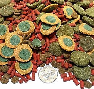 Aquatic Foods Inc. Gourmet Blend - Spirulina Veggie Wafers and Shrimp Bits, Pleco's, Catfish, Shrimp & All Fish. GB-250