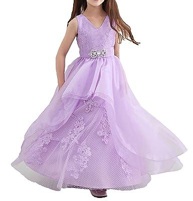 f9977b72fcba0 子供 ドレス ビジュー オーガンジー ロング ドレス 刺繍 花飾り 結婚式 発表会ドレス (110