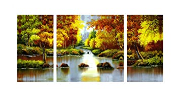 santin art landscape paintings on canvas wall art decorations home decor stretched and framed ready - Home Decor Paintings