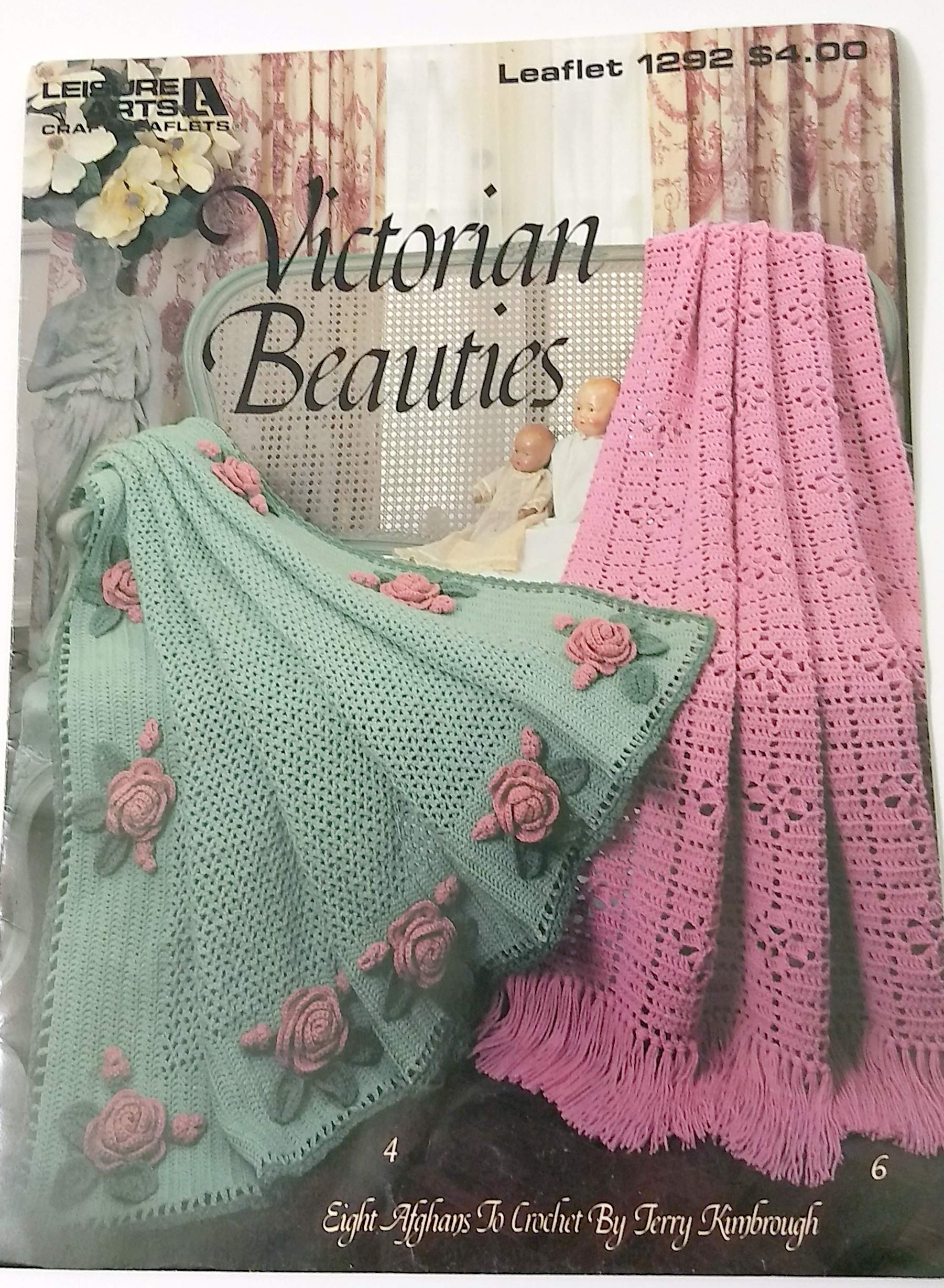 Victorian Beauties Crochet Afghans Leisure Arts Leaflet 1292