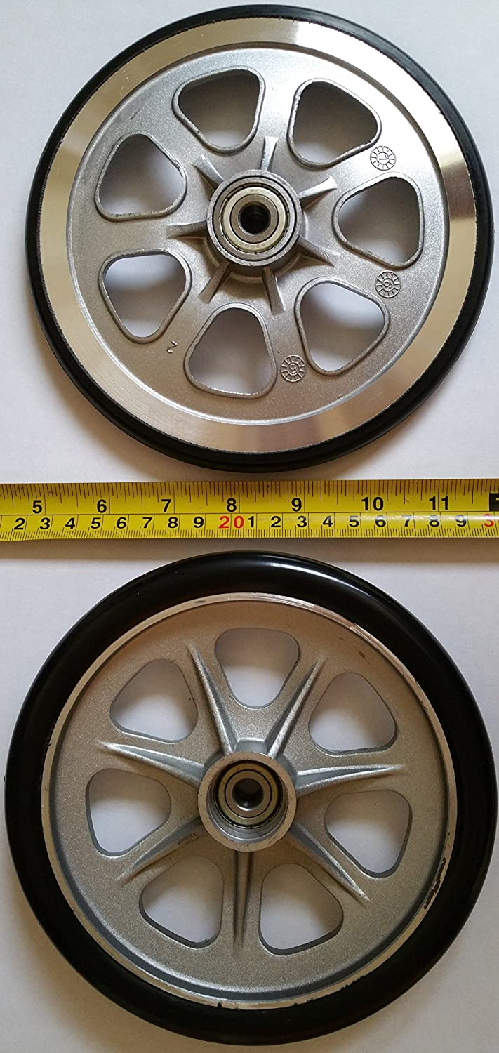 Complete Set of 2 Large Wheels for Landroller Terra 9 Skates