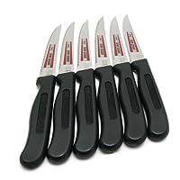 Vespermesser 6 Universalmesser RÖR # 10127 schwarz Brotzeitmesser Frühstücksmesser Jausenmesser