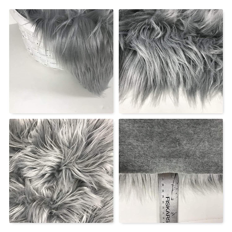 Bianna Creations Faux Fur Shag Shaggy Fabric Piece Photography Photo Prop Backdrop DIY CHOOSE COLOR and SIZE Basket Stuffer Rug Throw Home Decor Craft Fursuit Fursona Furry Fabric Fake Fur