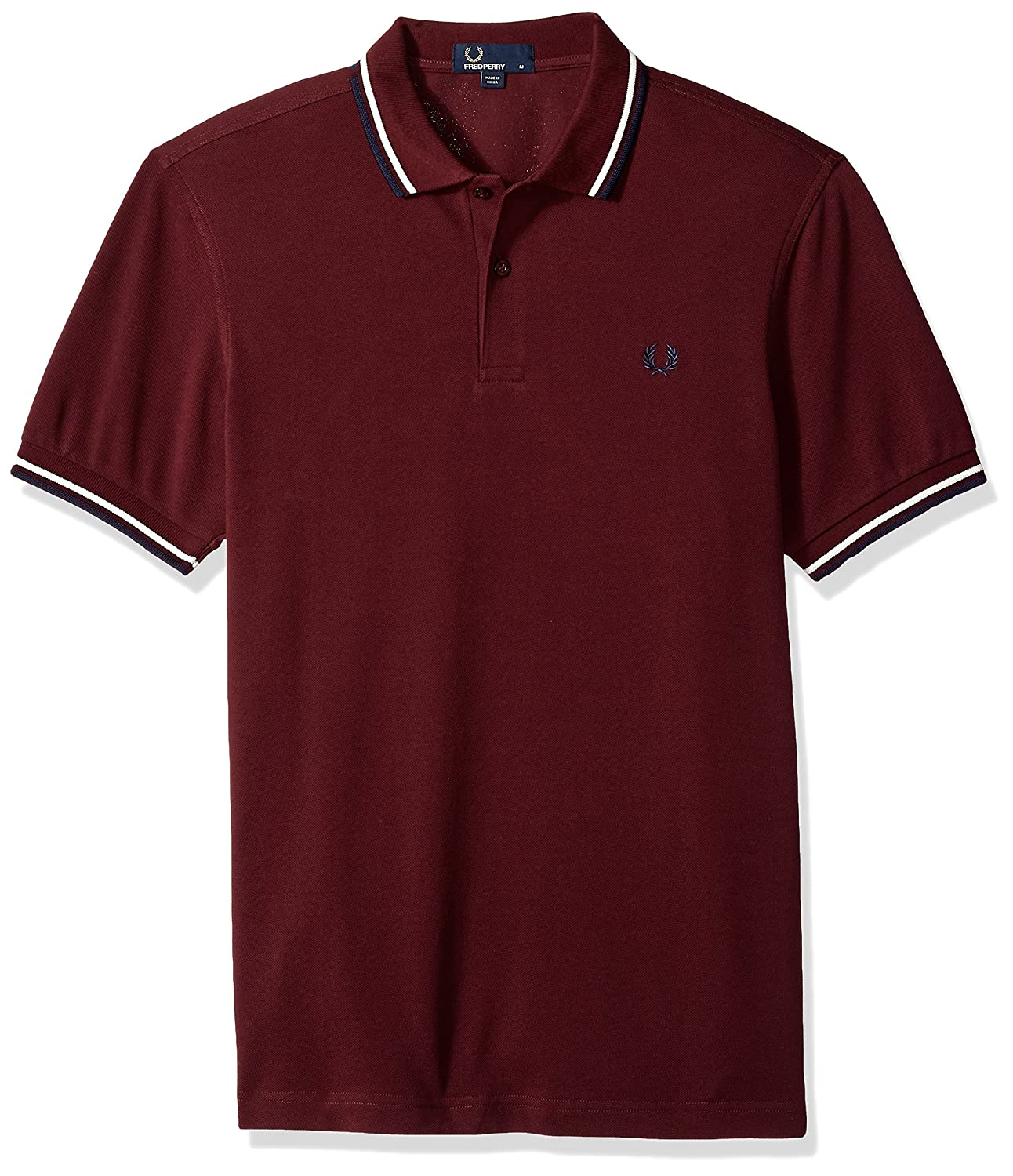 Violet (Mahogany F64) S Frouge Perry Twin Tipped Shirt Polo Homme