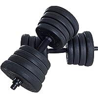 ESTEXO Korte halterset 30 kg halters set van 2 halterschijven fitnessapparatuur training spiertraining krachttraining