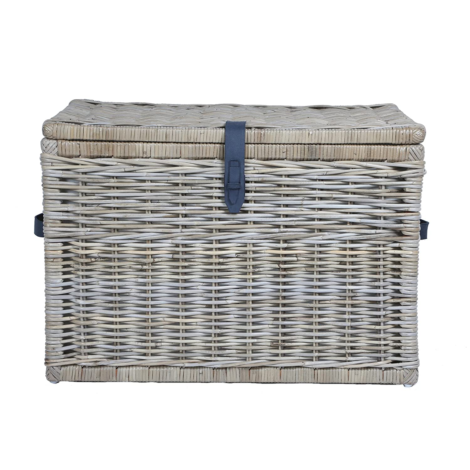 High Quality Amazon.com: The Basket Lady Deep Wicker Storage Trunk | Wicker Storage Chest,  XL, Serene Grey: Home U0026 Kitchen