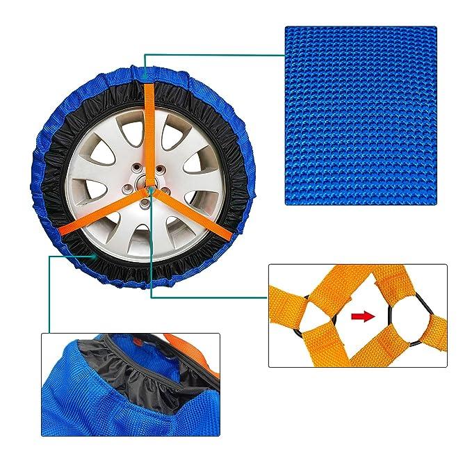 Amazon.es: Fundas de nieve para coche, de lujo, para tracción de neumáticos de coche, antideslizantes, para tracción en invierno y condiciones de nieve o ...