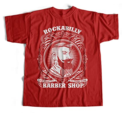T Shirt Rockabilly Barber S 4xl Friseur Bart Barbier Bart L Kamm