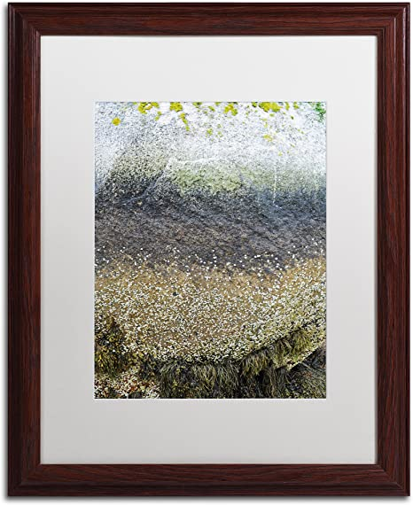 Layers By Nicole Dietz White Matte Wood Frame 16x20 Inch Posters Prints