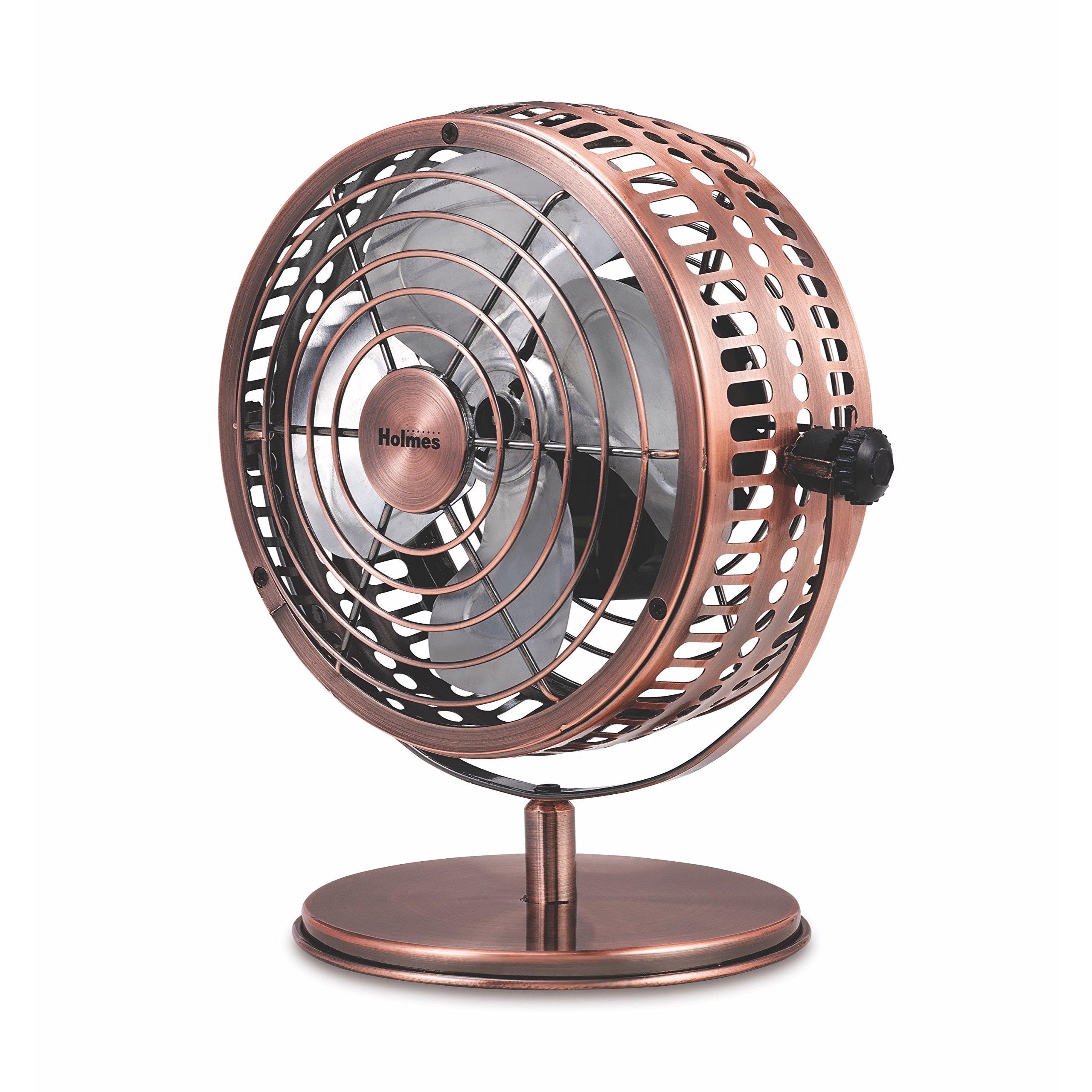 Holmes Heritage Desk Fan, 6-inch, Brushed Copper by Holmes