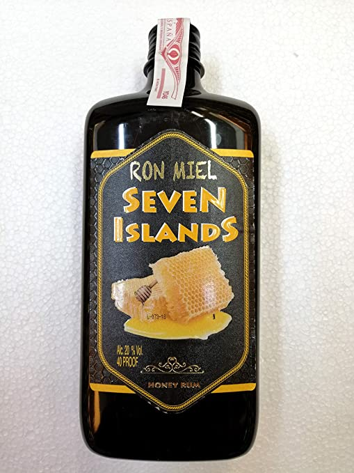 Ron Miel Seven Islands 1 Litro Botella plastico 20% Alcohol de ...