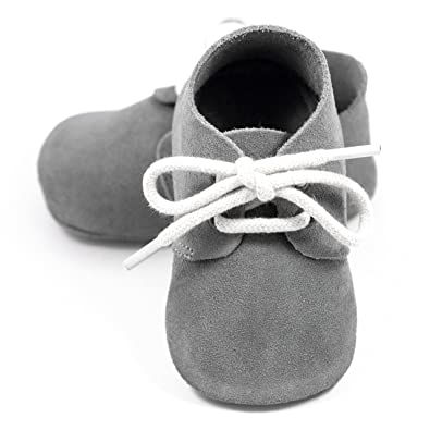 Amazon.com | Elk Kids Oxford boy Girl Baby Shoes, Soft Sole Leather Moccasins Babies Toddlers | Slippers