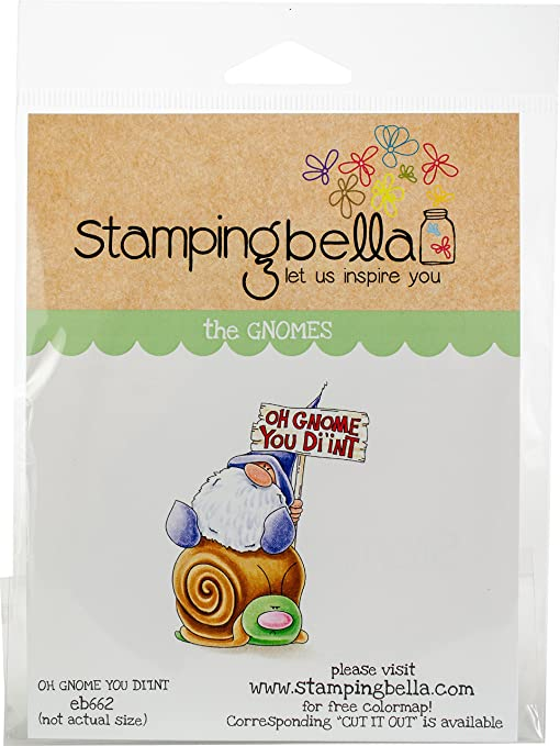 Stamping Bella EB662 Oh Gnome You Didnt Cling Stamps Multicolor