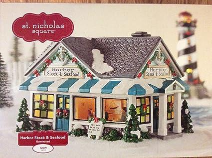 St Nicholas Christmas Village.Amazon Com St Nicholas Square Village Harbor Steak House