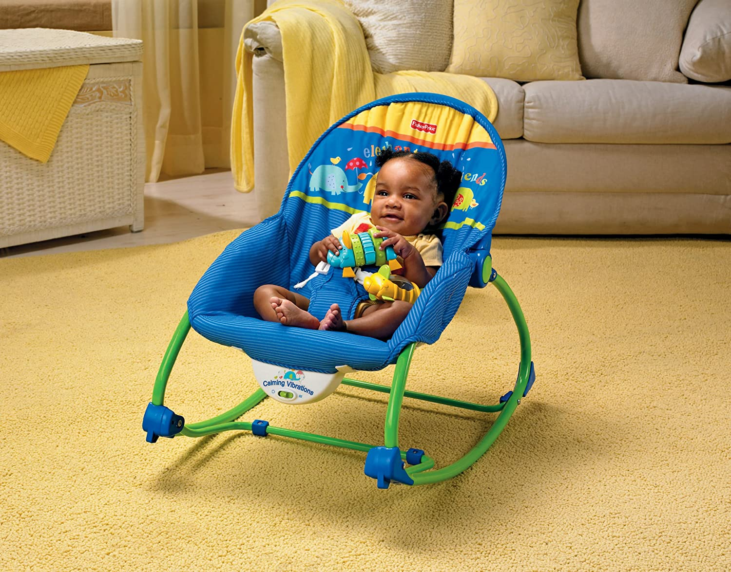 Amazon Com Fisher Price Infant To Toddler Rocker Blue Green
