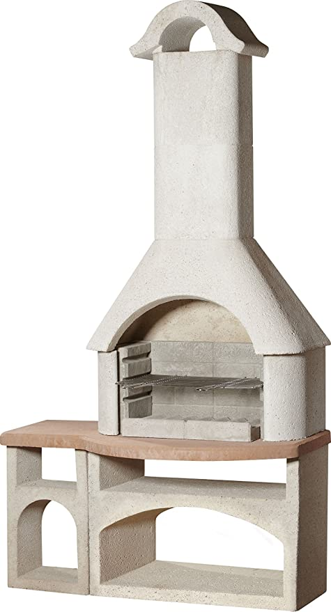 buschbeck - Parrilla chimenea Bozen, 1 pieza, color blanco ...