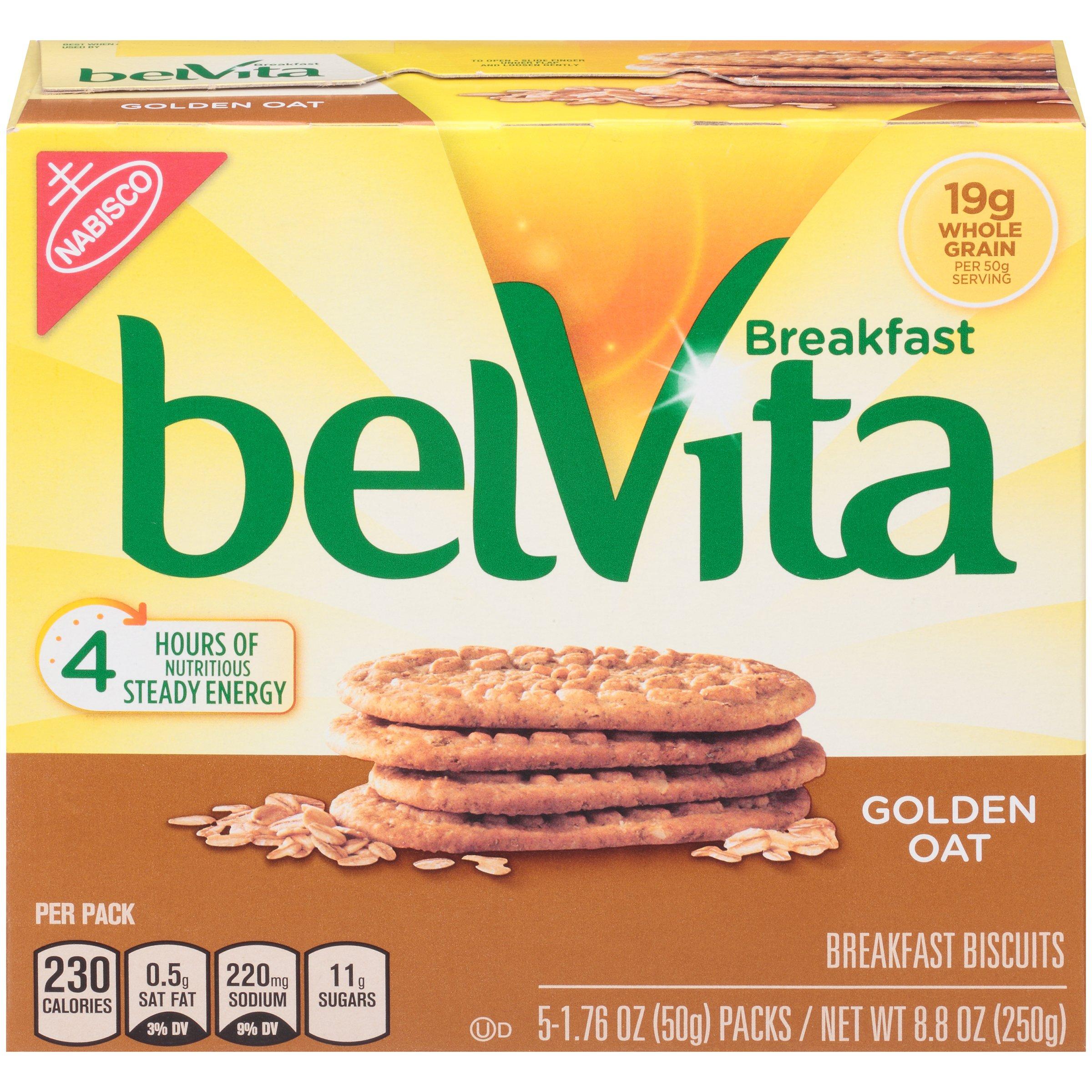belVita Breakfast Biscuits, Golden Oat Breakfast Biscuits, 8.8 oz